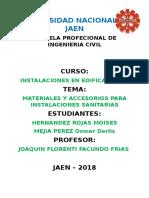 Universidad Nacional de Jaen Informe de Seguimiento
