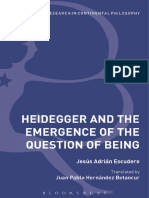 257656809 Adrian Escudero Jesus Heidegger and the Emergence of the Question of Being