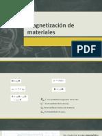 Magnetización de Materiales