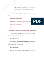 Ecuaciones Descriptiva Con Cambio de Variable