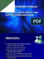 Ekonomi Publik Individu Masyarakat Sistem Perekonomian Dan Pembangunan