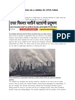 Air Cleaning Machines not a solution for CPCB Failure