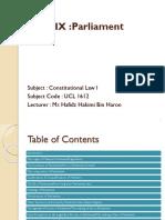 Topic IX Parliament new 2016.pptx