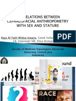 Correlations Between Cephalofacial Anthropometry With Sex and Stature
