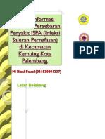 Sistem Informasi Geografis Persebaran Penyakit ISPA (Infeksi Saluran Pernafasan) di Kecamatan Kemuing Kota Palembang.