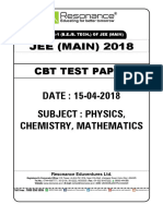 Jee Main Online Question Paper