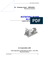 Rotating Pump Alignment