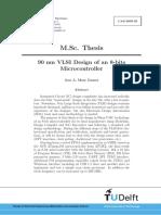 90 nm VLSI Design of an 8-bits Microcontroller