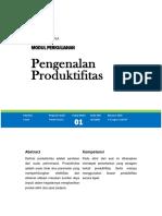 Analisa Produktifitas