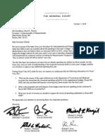 RRT 2010 10 07 Follow-Up Letter to Gov for Deficiency Details SIGNED