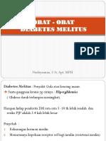 Obat-obat Diabetes Melitus