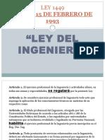Ley Del Ingeniero
