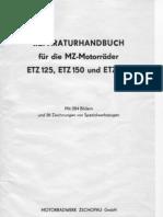 Reparatursanleitung MZ ETZ 125 - 150 - 251 (German)