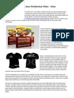 Trik Mengukuhkan Jasa Pembuatan Situs – situs