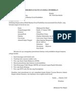 Surat Permohonan Beasiswa