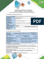 Guía de Actividades y Rúbrica de Evaluación - Actividad 2 - Aplicación Practica de Conocimientos