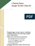 SI-4231 Pengembangan Sumber Daya Air (Ekonomi Teknik PSDA) - Minggu 13