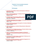 tcu mba - business research topics