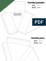 Plantilla Pastelito y Pizza