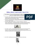 Military History Anniversaries 1001 Thru 101518