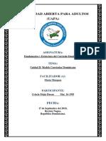 Tarea 2- Modelo Curricular Dominicano