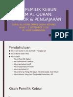 Kisah Pemilik Kebun Dalam Al-Quran_M Hidir Baharudin