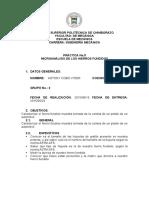 Informe de caracterización de hierro fundido