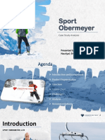 Sport Obermeyer PPT by Aryan Bhat