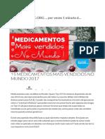 15 Medicamentos Mais Vendidos No Mundo 2017 - Melhorsaude.org