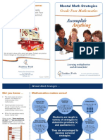 grade 4 mental math facts brochure