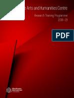 Research Training Programme (RTP) 2018-19 Brochure