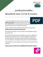 elections professionnelles 2d tour  1