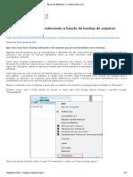 Dicas Do Windows 7 - Conhecendo a Função de Backup de Arquivos Própria Do Sistema