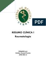 #Resumo Clínica l - Reumato - Cristian Pereira
