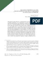 2005 - Recursos Próprios Da Unb, o Financiamento Das Ifes e a Reforma Da Educação Superior