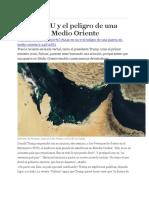 Irán EE UU y El Peligro de Una Guerra en Medio Oriente