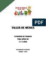 Cuadernillo de trabajo Taller de Música