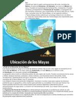 Ubicación Geográfica de La Civilización Maya