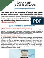 1. Técnica de Traducción Inglés Español