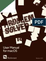 Scrivener Manual Mac