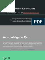 Parlamento Abierto (HCDN, 2018) Eje III