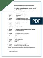Lista de Test Psicologicos Empleados en Consultorio de Niños