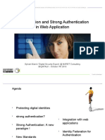 Authentication and Strong Authentication in Web Applications