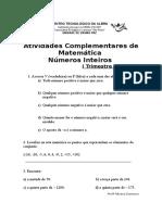 Atividades Complementares de  Matematica sexta serie(1).doc
