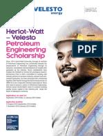 HWUM Velesto PE Scholarship Flyer