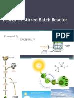 Design of Stirred Batch Reactor