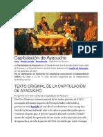 Acuerdos de La Capitulación de Ayacucho