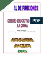 Manual de Funciones c.e.r. La Quina