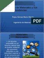 Consumo de Materiales y Sus Tendencias
