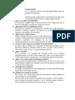 Cuestionario de Lectura y Escritura en La Universidad